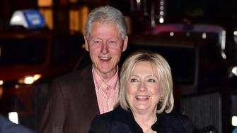 NEW YORK, NY - OCTOBER 03:  Bill Clinton and Hillary Clinton arrive to Christina Aguilera concert at Radio City Music Hall on October 3, 2018 in New York City.  (Photo by James Devaney/GC Images)