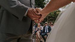 Bei dieser Hochzeit müssen die Gäste Augenbinden