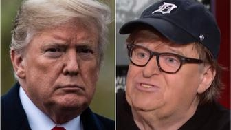 Donald Trump and Michael Moore