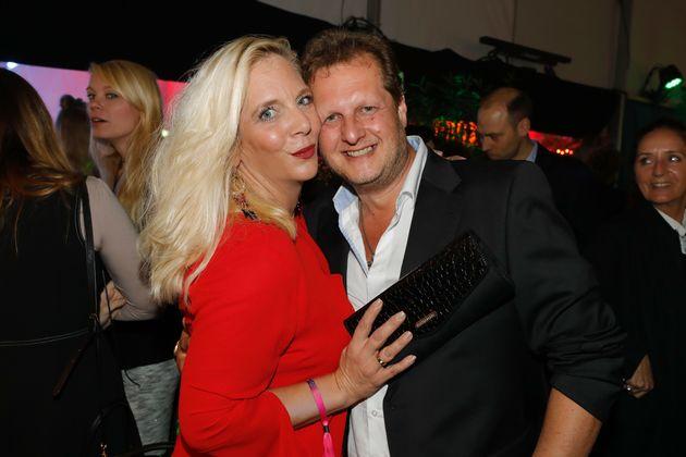 Daniela Büchner mit ihrem verstorbenen Ehemann Jens.