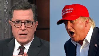 Stephen Colbert and Donald Trump