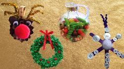 Sensory Baubles And Tissue Paper Wreaths: 4 Homemade Christmas Decorations To Make With