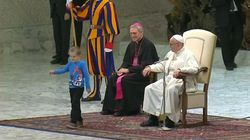 Little Boy Hilariously Upstages The Pope During