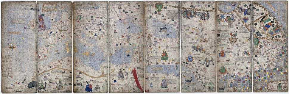 The Catalan Atlas of 1375 is one of the earliest portolan charts (used by marine navigators) to incorporate geographic data d