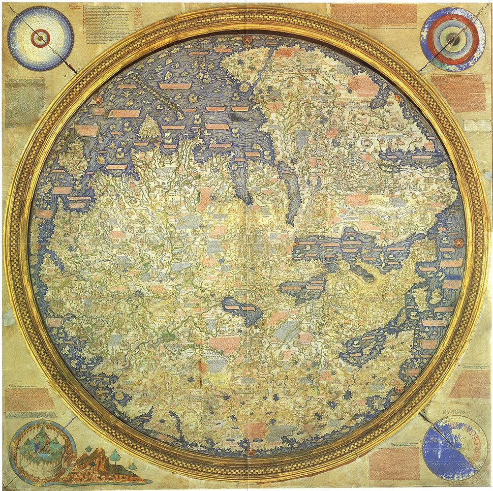 The Fra Mauro map of 1459 features information provided 