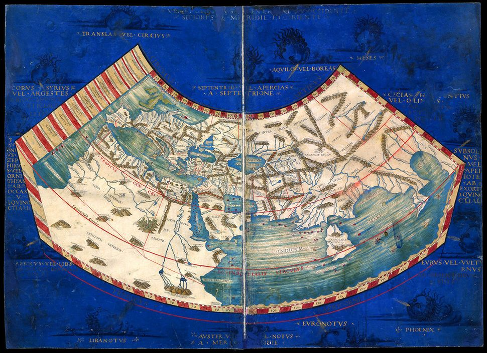 The world as it was recorded by the second-century Greek mathematician Ptolemy.