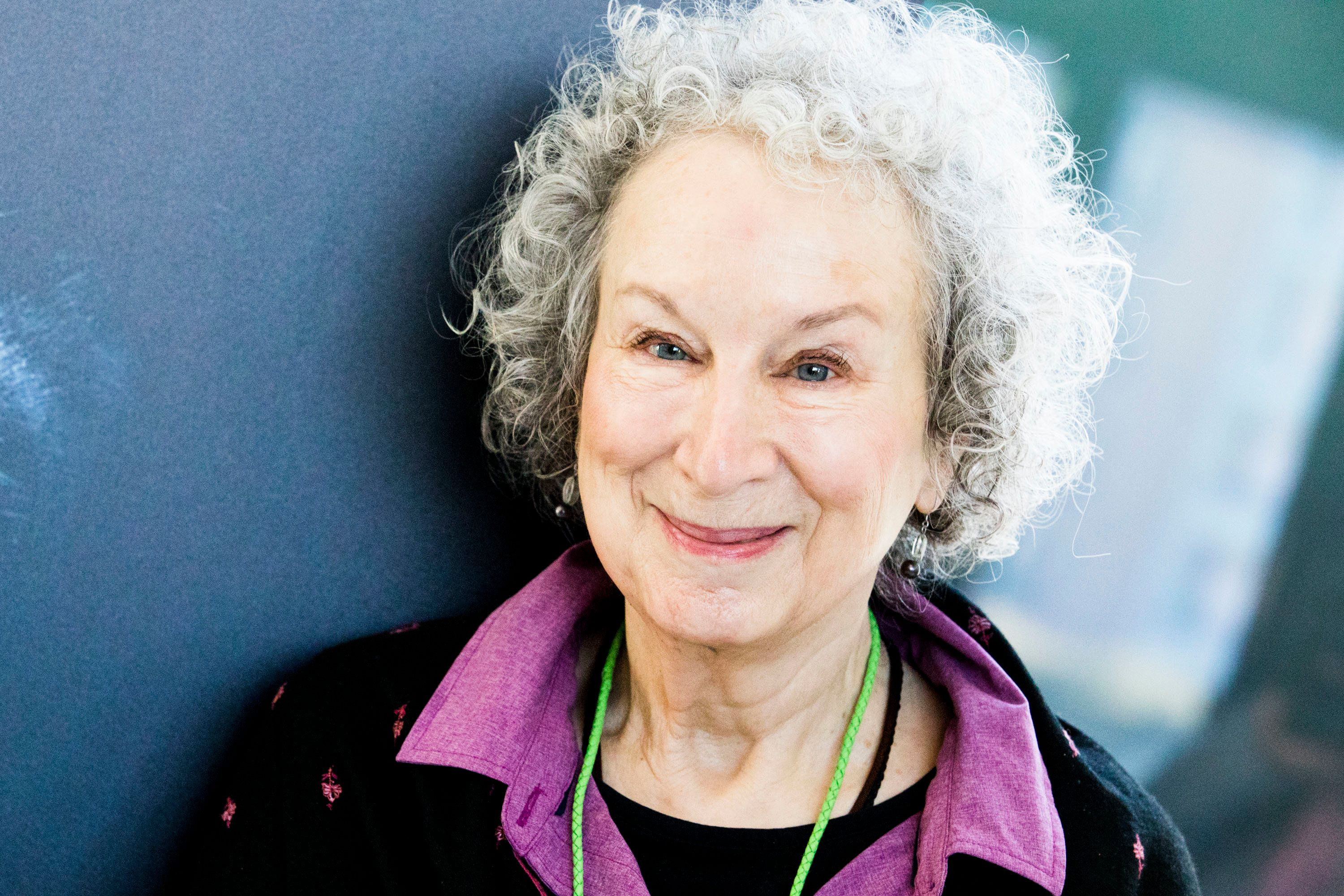 MILAN, ITALY - DECEMBER 06:  Canadian poet, novelist, literary critic, essayist, inventor, and environmental activist Margaret Atwood poses for portrait session at Noir In Festival on December 6, 2017 in Milan, Italy.  (Photo by Rosdiana Ciaravolo/Getty Images)