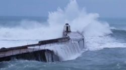 Huge Waves Hit As Storm Diana Rolls Into The