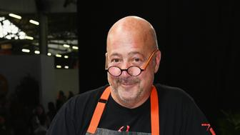 NEW YORK, NY - OCTOBER 13:  Chef Andrew Zimmern attends Food Network & Cooking Channel New York City Wine & Food Festival Presented by Capital One Grand Tasting presented by ShopRite featuring Culinary Demonstrations presented by Capital One at Pier 94 on October 13, 2018 in New York City.  (Photo by Dave Kotinsky/Getty Images for NYCWFF)