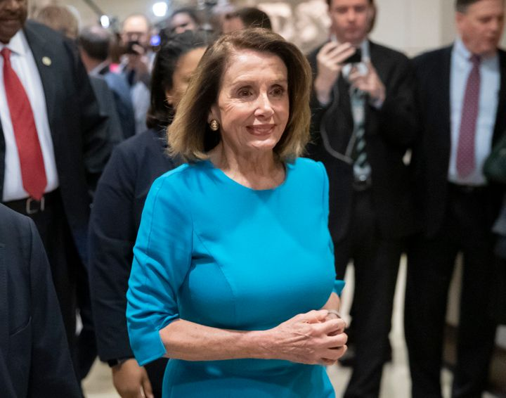 Nancy Pelosi won the House Democratic Caucus vote to secure her nomination as speaker. She still must win a vote on the House