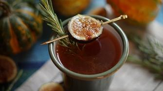 The Fall Fig features a homemade rosemary fig syrup that's sure to impress your guests this year.