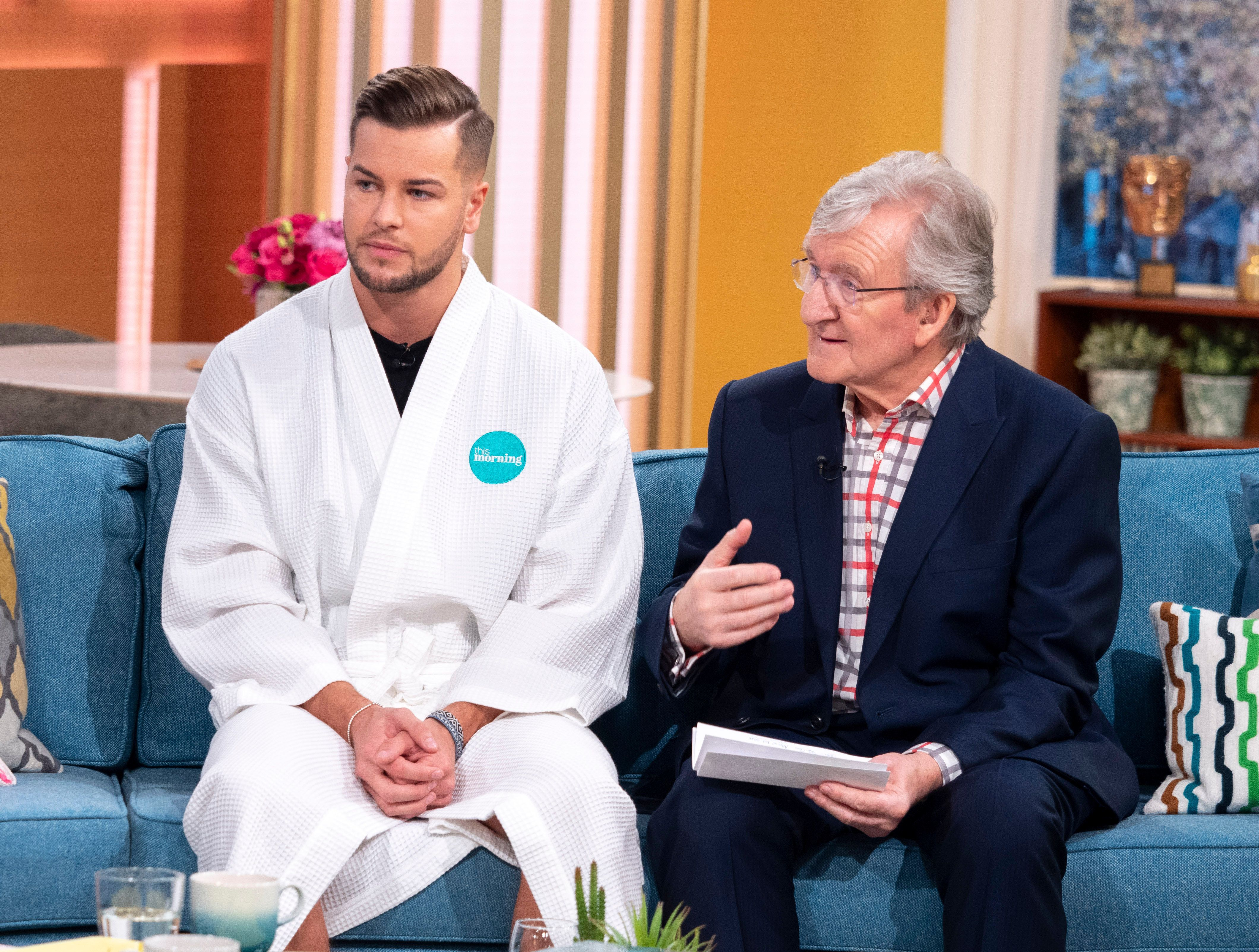 Chris Hughes underwent a live testicular exam