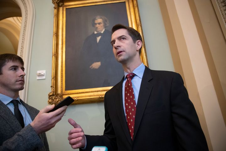 Sen. Cotton is doing everything he can to sour Republicans on the legislation.