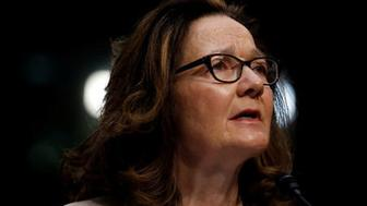 FILE PHOTO: CIA Director nominee Gina Haspel testifies at her confirmation hearing before the Senate Intelligence Committee on Capitol Hill in Washington, U.S., May 9, 2018.  REUTERS/Aaron P. Bernstein/File Photo