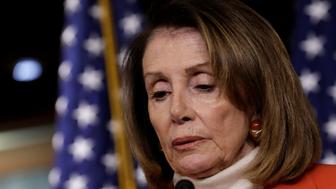 House Minority Leader Nancy Pelosi (D-CA) speaks during her weekly news conference on Capitol Hill in Washington, U.S., November 15, 2018. REUTERS/Yuri Gripas