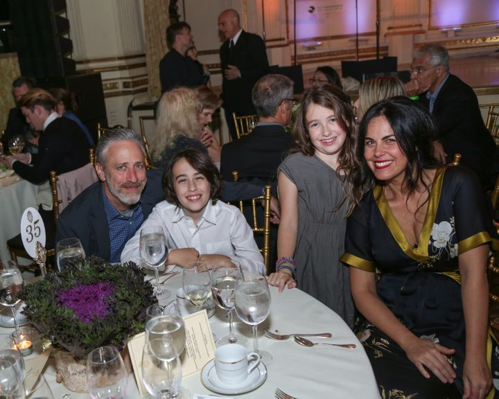 Stewart with his family in 2015.