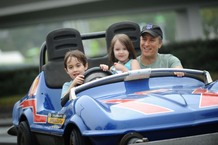 Stewart with his kids in 2011.
