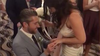 Man Proposes to Bridesmaid Immediately After Bouquet Toss