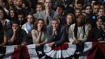 NEW YORK, NY - NOVEMBER 8:  Supporters Democratic presidential nominee former Secretary of State Hillary Clinton wait for results on election night at the Javits Center November 8, 2016 in New York City, New York. (Photo by Matt McClain /The Washington Post via Getty Images)