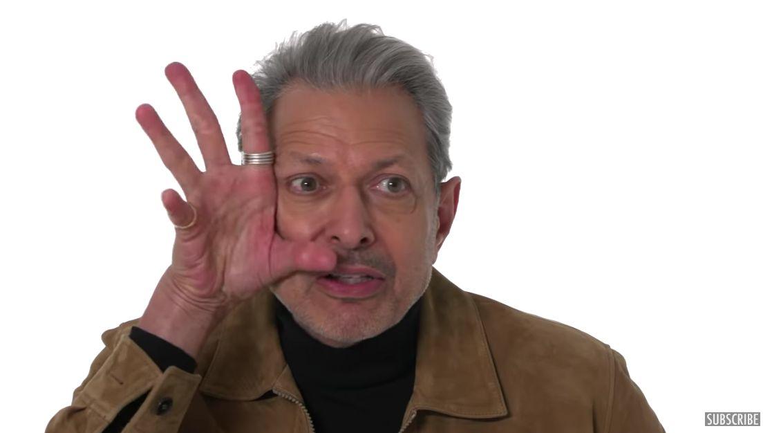 Jeff Goldblum Talking About Mascara Is Wild: 'Don't Put On An Eyelash