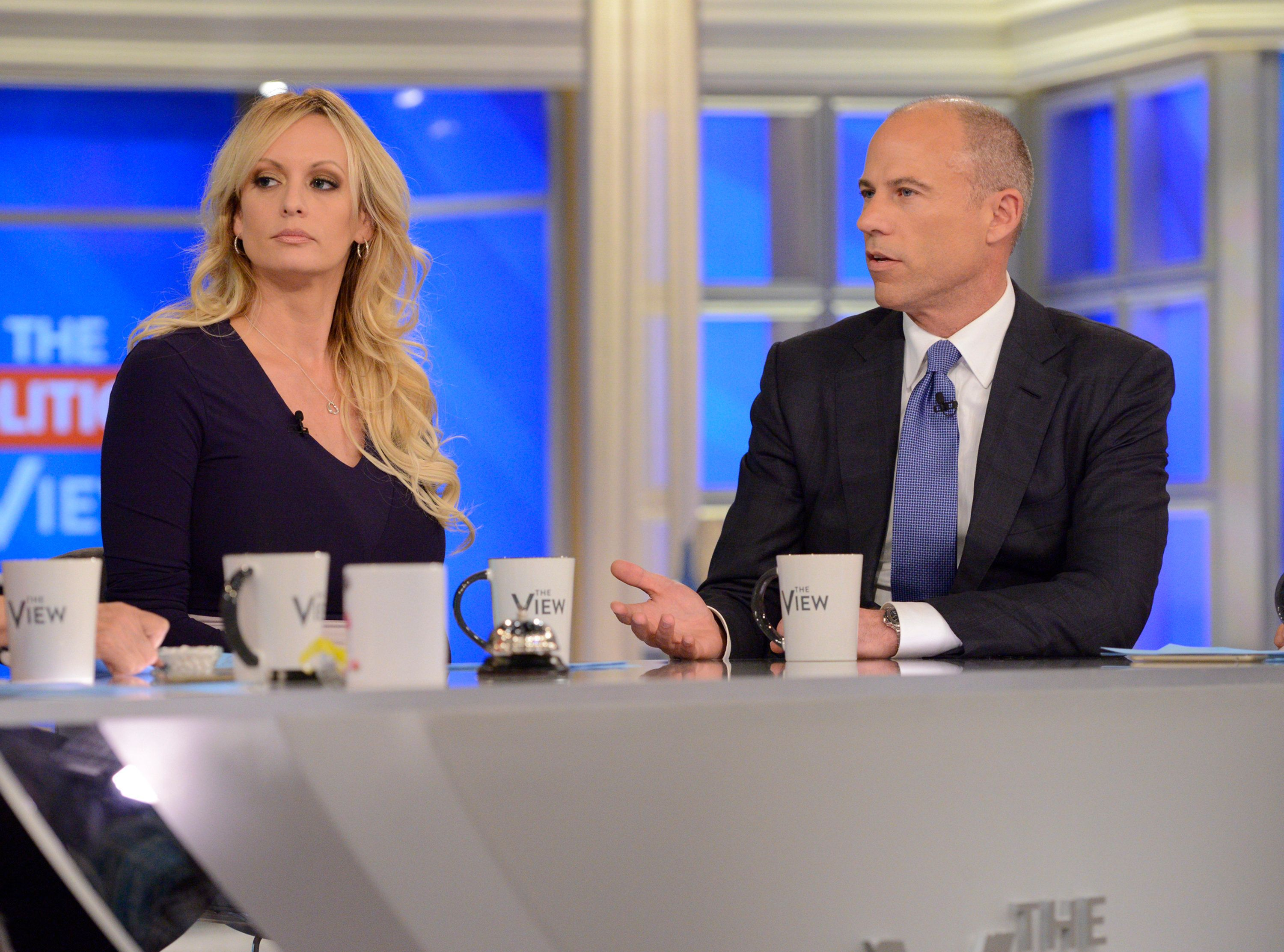 THE VIEW - Stormy Daniels is joined by her attorney, Michael Avenatti today, Wednesday, September 12, 2018 on ABC's 'The View.'  'The View' airs Monday-Friday (11:00 am-12:00 pm, ET) on the ABC Television Network.     (Photo by Lorenzo Bevilaqua/ABC via Getty Images)  STORMY DANIELS, MICHAEL AVENATTI