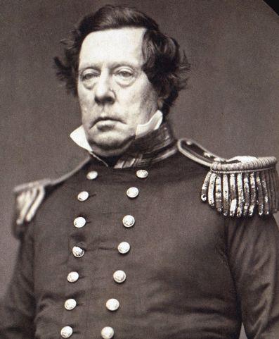 메튜 캘브레이드 페리 제독( 1794~1858). 일본 앞바다에 등장한 흑선들 위의 페리 원정대를 본 일본인들은 두려움에 휩싸였으나 새로운 시대를 맞이 할 전환점을 마련했다.