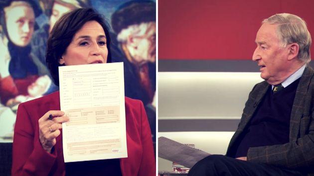 Sandra Maischberger überreichte AfD-Chef einen Mitgliedsantrag der CDU.