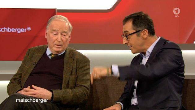 Grünen-Politiker Cem Özdemir diskutiert mit AfD-Chef Alexander Gauland