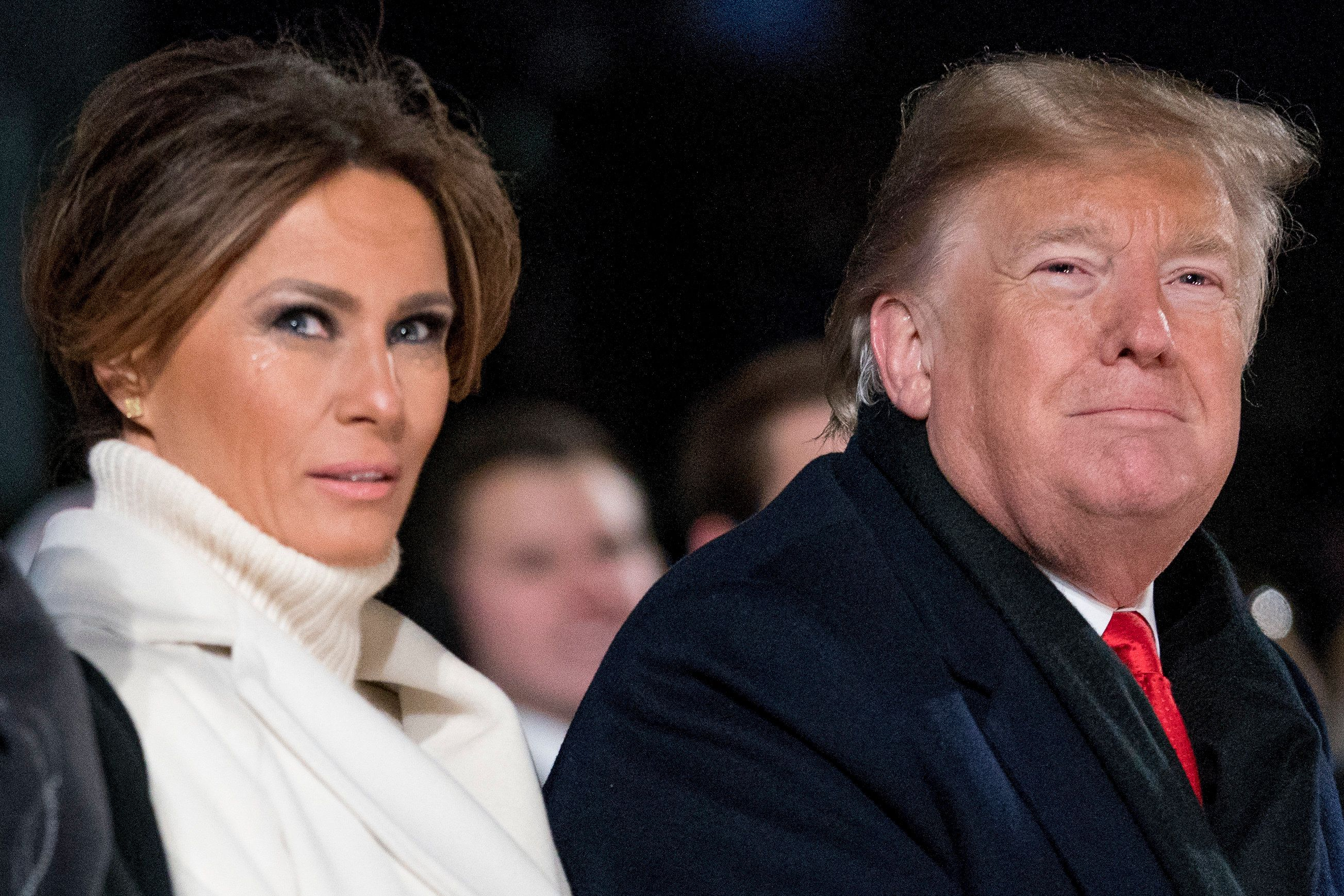 President Donald Trump and first lady Melania Trump attend the National Christmas Tree lighting ceremony at the Ellipse near the White House in Washington, Wednesday, Nov. 28, 2018. (AP Photo/Andrew Harnik)