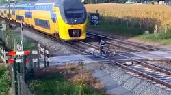 Cyclist Has Shockingly Close Call At Level