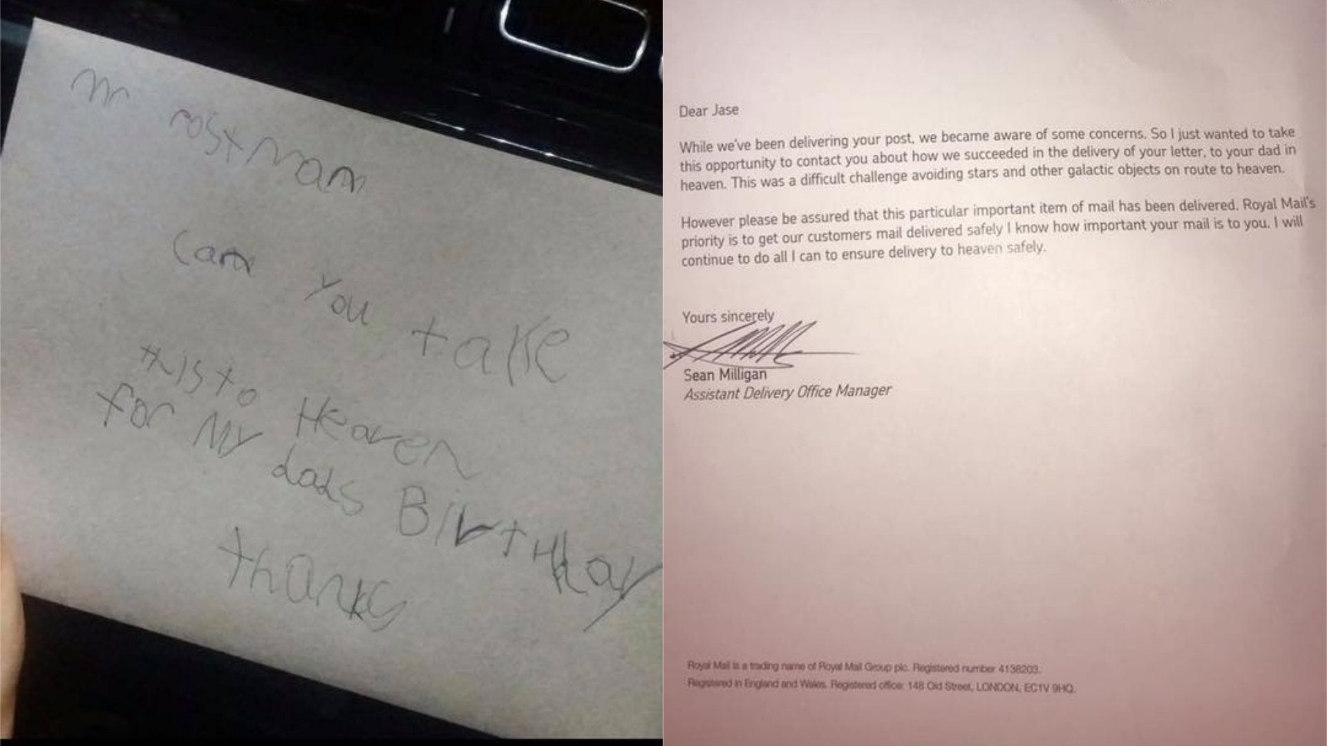 Boy Sends Card to Dad in Heaven, Gets Reply