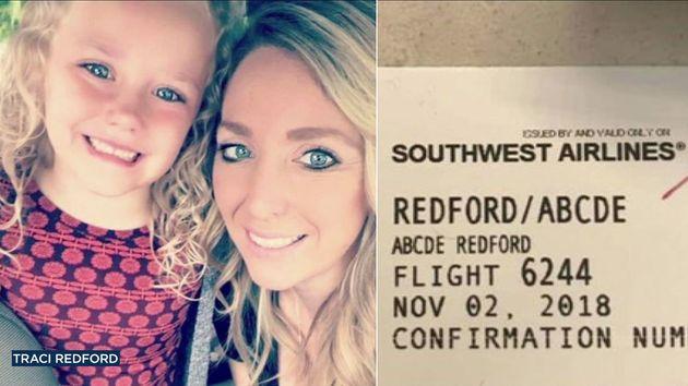 Traci mit ihrer Tochter Abcde Redford.