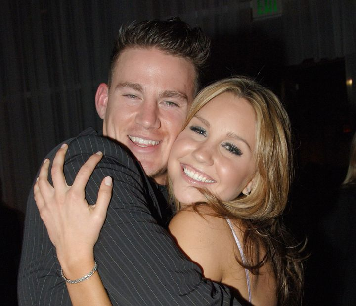 """Channing Tatum and Amanda Bynes cozy up at the """"She's The Man"""" premiere afterparty."""