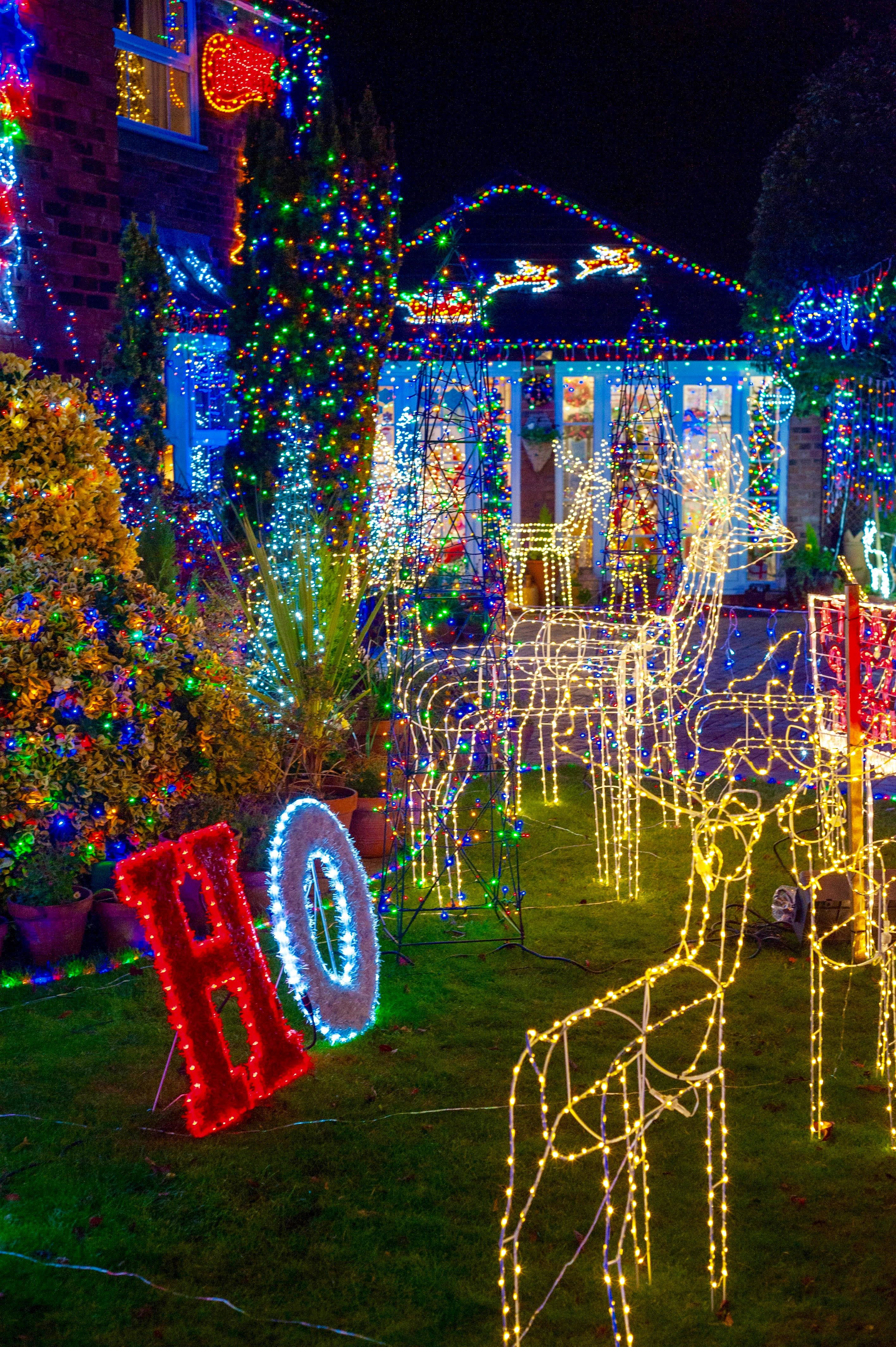'Why We Decorate Our House With More Than 30,000 Christmas Lights Each