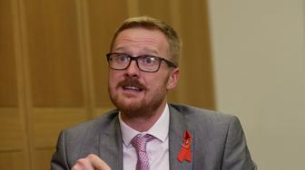 Lloyd Russell-Moyle, Labour MP for Brighton Kemptown, during an interview with the Press Association at Portcullis House, London, where he spoke about his HIV Positive status. (Photo by Yui Mok/PA Images via Getty Images)