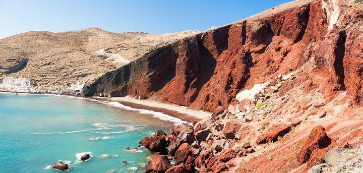 Kόκκινη Παραλία, Σαντορίνη