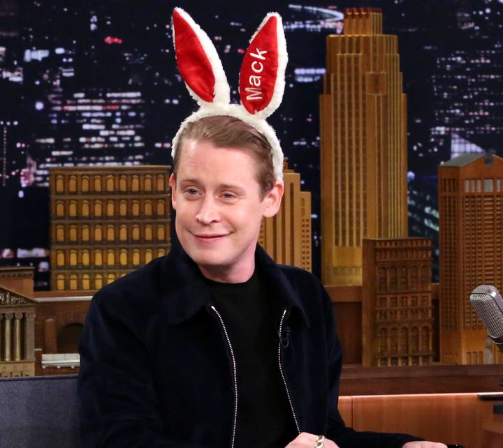 Macaulay Culkin during an interview with Jimmy Fallon on Nov. 28.