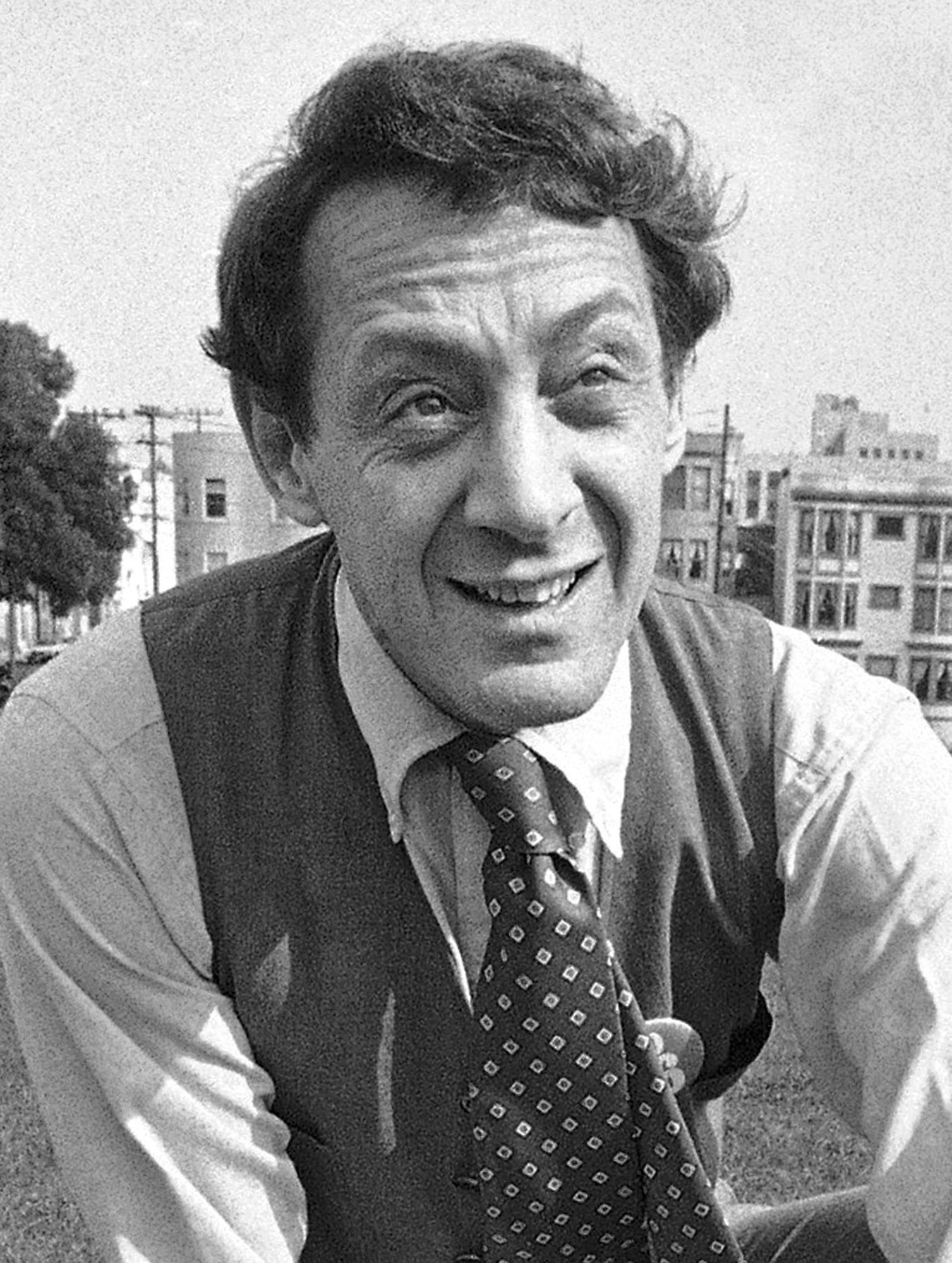 FILE - In this Oct. 20, 1978 file photo, Supervisor Harvey Milk speaks to the media about the city's new anti-litter law in San Francisco. Navy Secretary Ray Mabus announced in July 2016 that he would name a fleet oiler ship after the late gay rights leader, Milk. Some have challenged names that Mabus has picked for naval ships. (AP Photo/James Palmer, File)