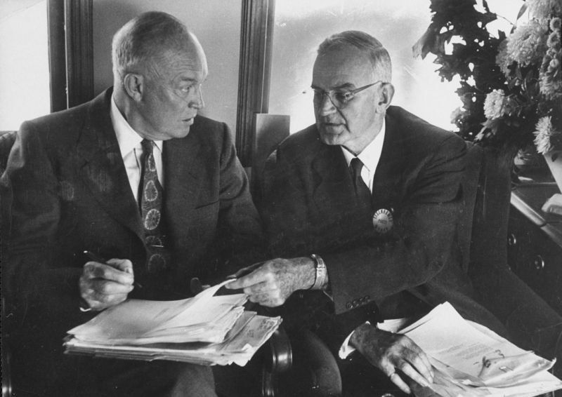 President Dwight D. Eisenhower, left, and Robert Cutler, his special assistant for national security affairs. (Photo: Joseph