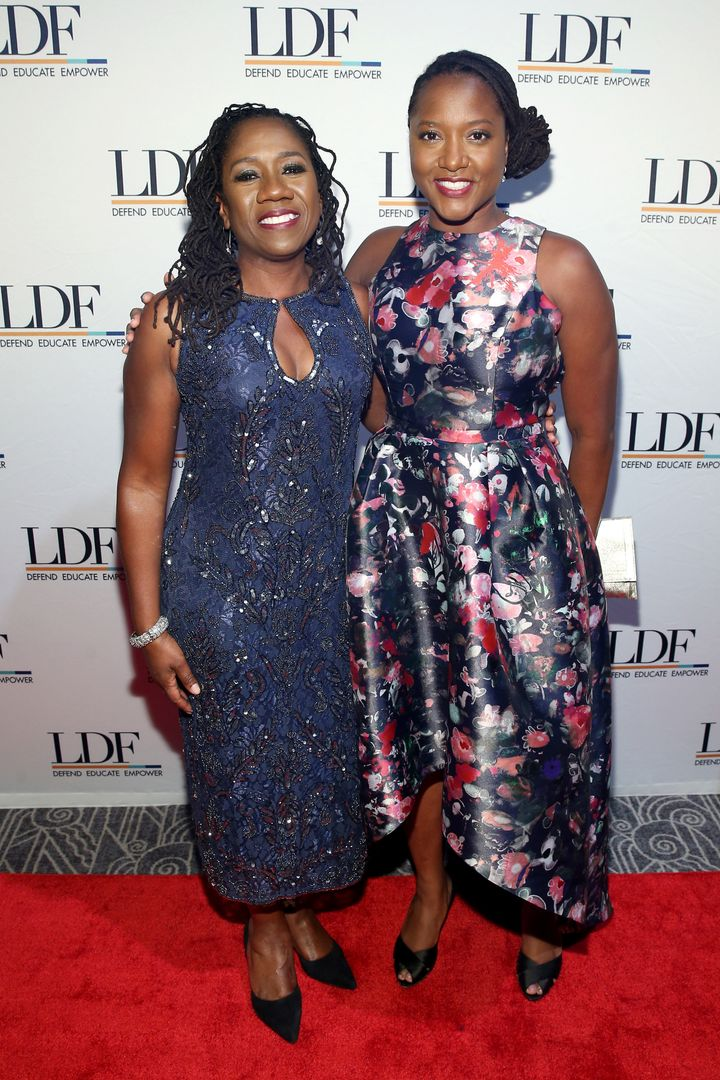 Ifill and Nelson at the 2018 NAACP LDF Equal Justice Awards Dinner, Nov. 1 in New York. Under their leadership, the