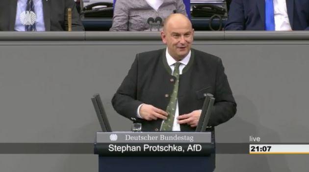 AfD-MannStephan Protschka im Bundestag.