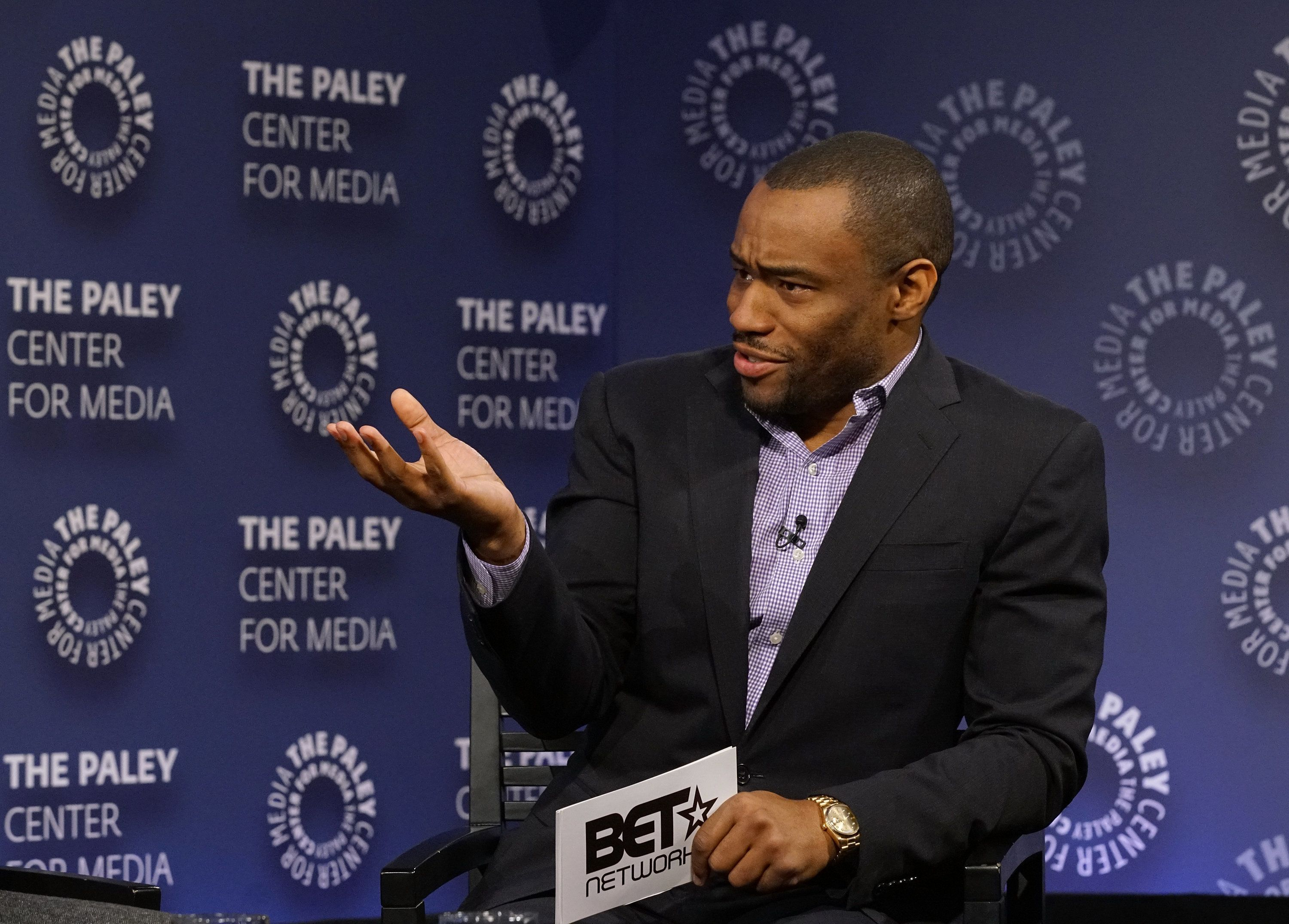 NEW YORK, NY - DECEMBER 07:  Moderator Marc Lamont Hill attends BET Presents 'An Evening With 'The Quad'' At The Paley Center on December 7, 2016 in New York City.  (Photo by Bennett Raglin/Getty Images for BET Networks)