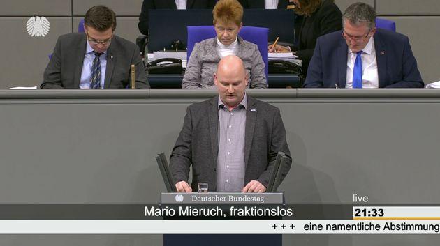 Mario Mieruch im Bundestag.