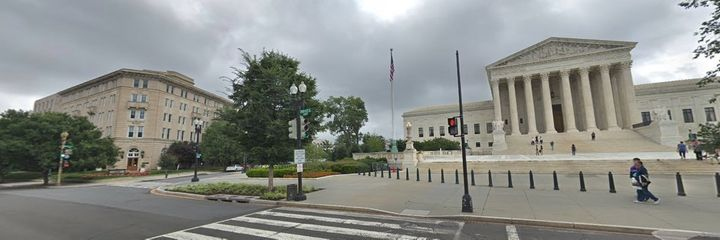 The United Methodist Building (left) is steps away from the Supreme Court.