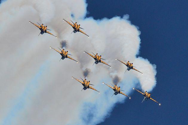 한국 공군 특수비행팀 '블랙 이글스'의 항공 쇼