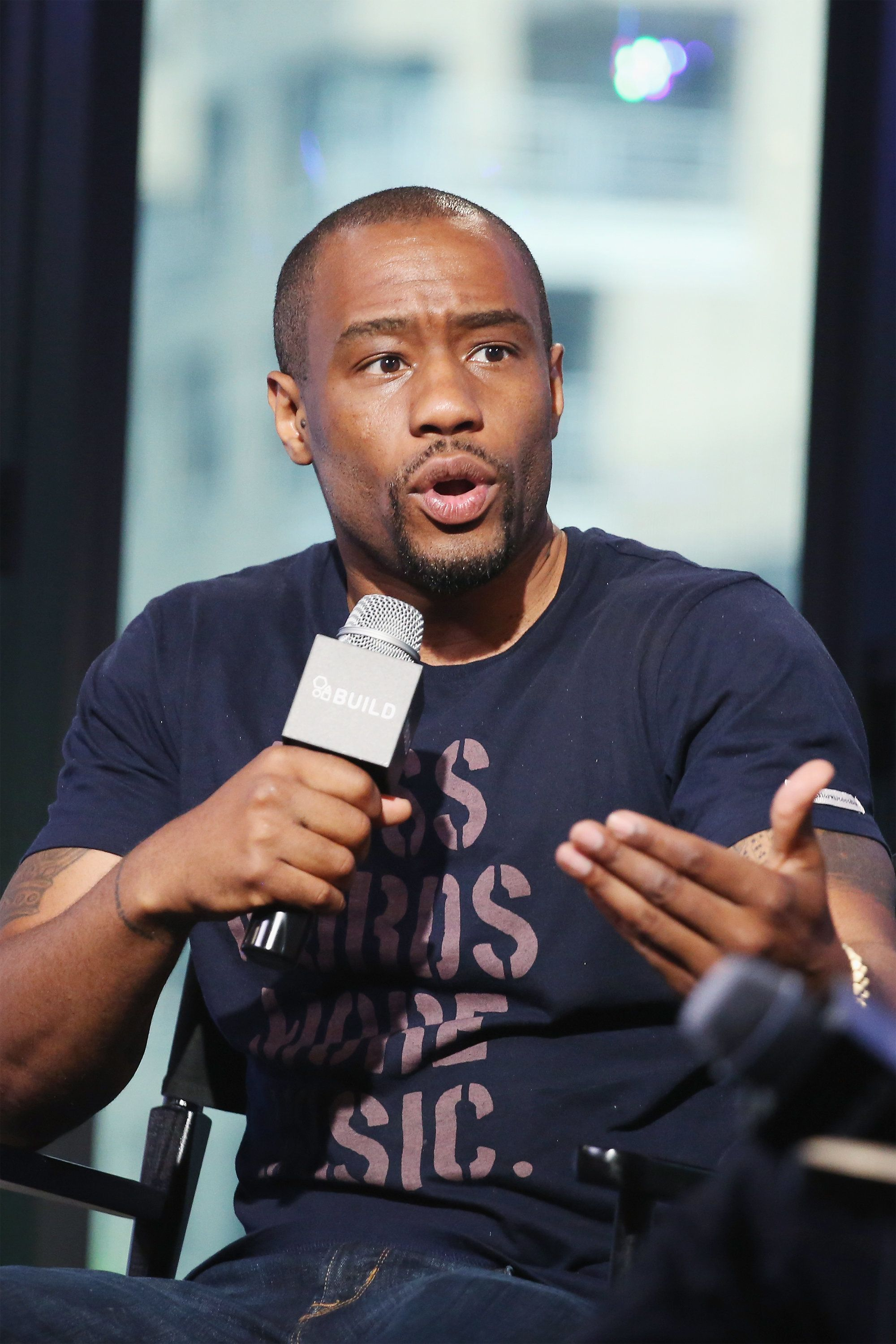 NEW YORK, NY - JULY 25:  CNN commentator and BET News host Marc Lamont Hill discusses anchoring the weekly series delivering VH1Õs pop culture spin on the hottest entertainment news and gossip at AOL HQ on July 25, 2016 in New York City.  (Photo by Mireya Acierto/FilmMagic)