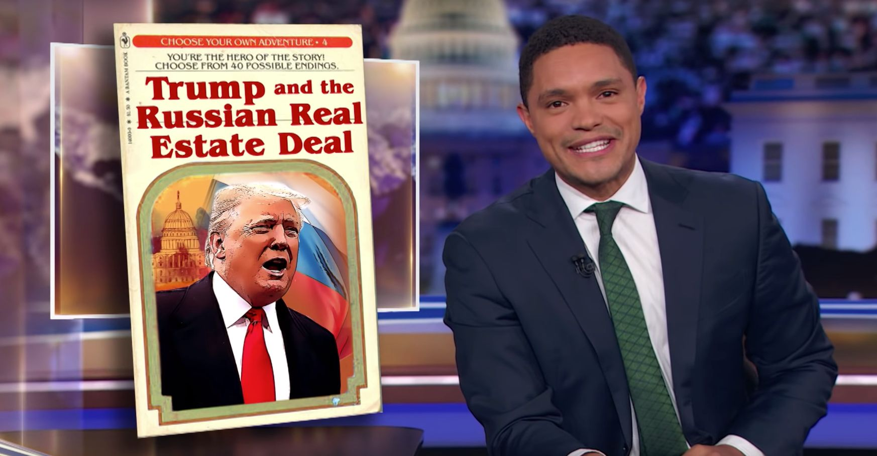 Trevor Noah Flips Out At Trump's Inadvertent 2016 Election
