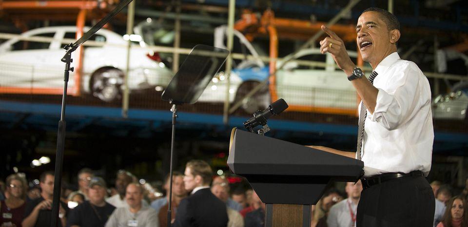 2009년 GM 로즈타운 공장을 찾은 버락 오바마 대통령은 '자동차 산업 회생 계획' 타결 소식을 전하며 새로운 배출가스·연비 규제 정책을 발표했다.