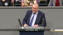 AfD-Politiker Maier verlacht GroKo-Antrag zur Miet-Krise und verrennt sich kurz