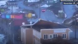 Ισχυροί άνεμοι «ξηλώνουν«» (κυριολεκτικά) τη στέγη εστιατορίου στον